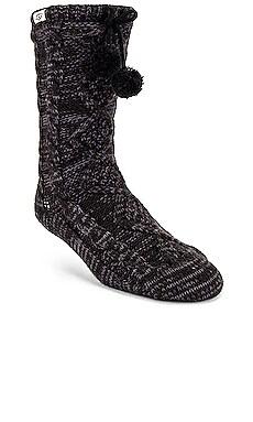 Pom Pom Fleece Lined Crew Sock UGG $50