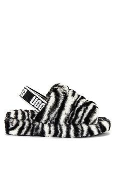 Fluff Yeah Shearling Slide Zebra UGG $100