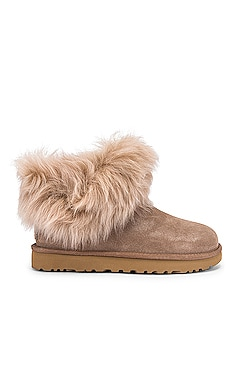 BOTTINES CLASSIC MINI FLUFF COLLAR UGG $180