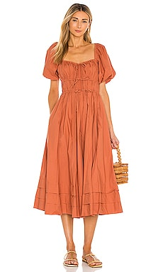 ROBE MI-LONGUE PALMA Ulla Johnson $425 BEST SELLER