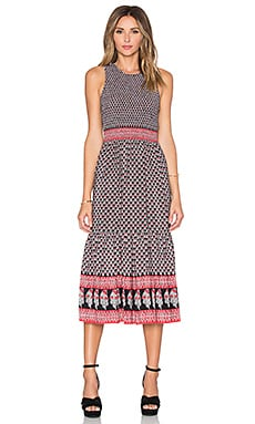 Ulla Johnson Oona Maxi Dress in Dark Indian Floral