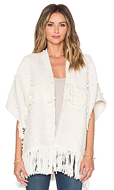 Ulla Johnson Fringe Cusco Wrap in Cream