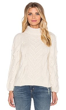 Ulla Johnson Bruna Turtleneck Sweater in Natural