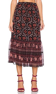 Ulla Johnson Isha Skirt in Dark Floral