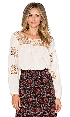 Ulla Johnson Claudelle Blouse in Pearl