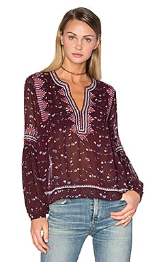 Ulla Johnson Jamila Blouse in Bordeaux