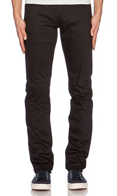 Unbranded Skinny 14.5 oz. Selvedge Chino in Black