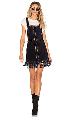 Hold Your Horses Pinafore Dress in Black