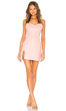 x REVOLVE Split Mini Dress Understated Leather $88