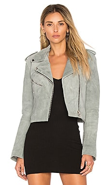 Cropped Bell Sleeve MC Jacket in Smoke