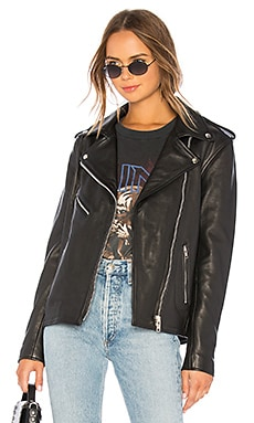 Oversized Moto Jacket Understated Leather $490