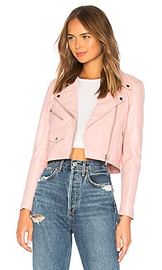 x REVOLVE Mercy Cropped Jacket Understated Leather $351