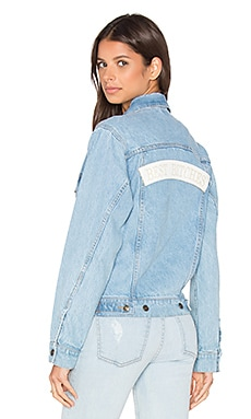x REVOLVE Best Bitches Denim Jacket in Sky Blue