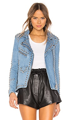 Studded Western Moto Jacket Understated Leather $375