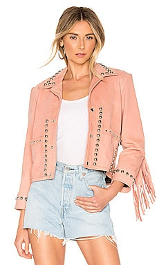 X REVOLVE Lil Darlin Jacket Understated Leather $565