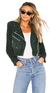 X REVOLVE Mercy Cropped Jacket Understated Leather $251
