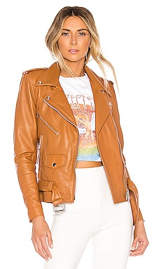 X REVOLVE Lightweight Easy Rider Jacket Understated Leather $375