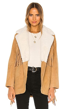 Buttercup Blazer With Faux Fur Collar Understated Leather $498