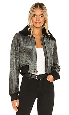 Spirit Bomber Jacket With Shearling Collar Understated Leather $495