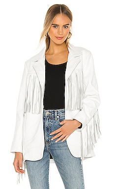 X REVOLVE Buttercup Blazer Understated Leather $245