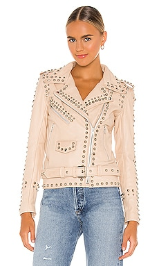 Understated Leather Western Studded Jacket