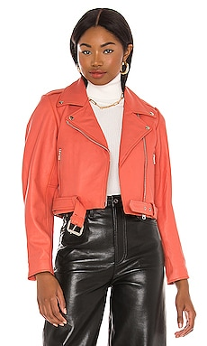 BLOUSON SCRUNCH Understated Leather $395