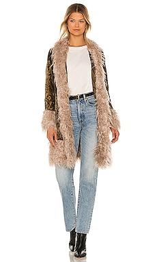 Stillwater Faux Fur Coat Understated Leather $470