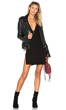 x REVOLVE Bell Sleeve MC Jacket in Schwarz