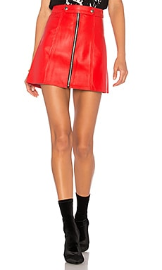 x REVOLVE High Waisted Zip Skirt