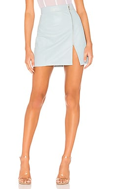 x REVOLVE High Waisted Zip Skirt Understated Leather $108