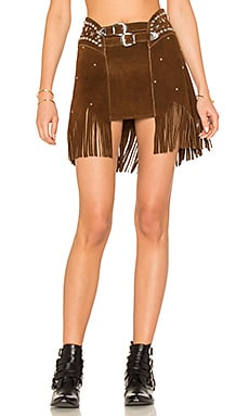 X REVOLVE Paris Texas Studded Skirt