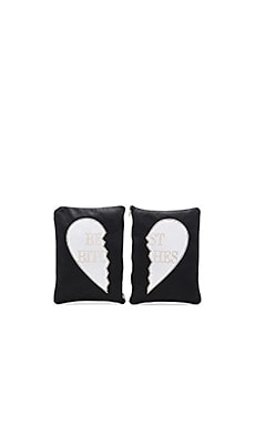 Understated Leather x REVOLVE Best Bitches Clutch Set in Black