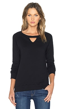 une Tessa Triangle Pullover in Black