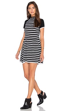 Scoshe Dress in Black & White