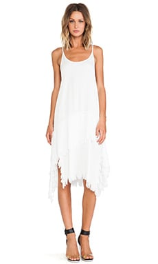 Midi Stray Dress in White