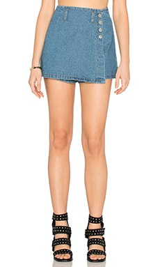 UNIF Bubble Skort in Denim