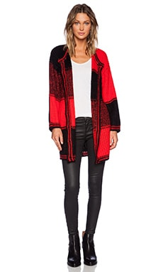 UNIF Kent Cardigan in Red Plaid