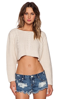 UNIF Sought Sweater in Cream
