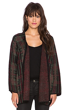 UNIF Ditch Cardigan in Red Plaid