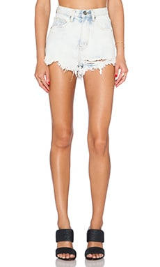 UNIF Taryn High Rise Short in Light Blue