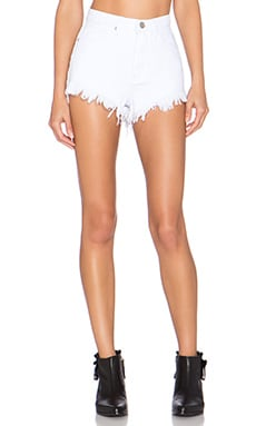 UNIF Bundy High Rise Short in White