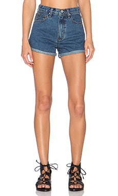 UNIF Milo High Rise Short in Med Blue