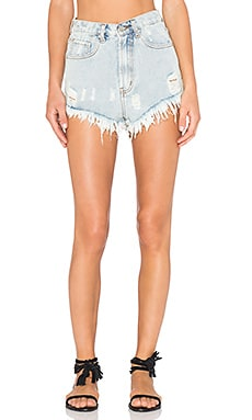 UNIF Bab High Rise Short in Light Blue