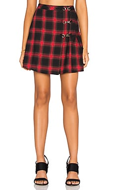 UNIF Wreck Skirt in Red Plaid