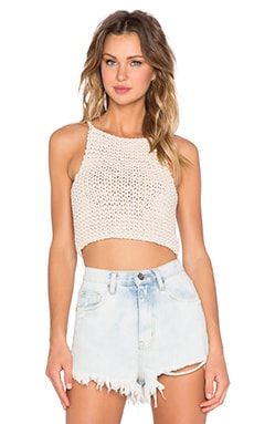 UNIF Matic Crop Top in Cream