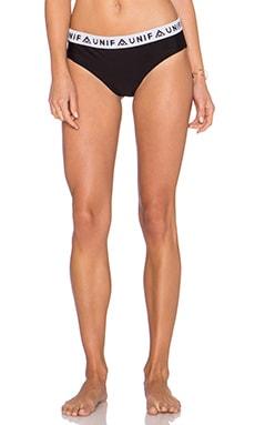 UNIF Pep Bikini Bottom in Black
