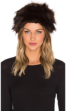 Unreal Faux Fur Natasha Hat in Chocolate