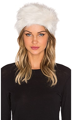 Unreal Fur Natasha Hat in Ivory
