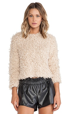 Unreal Fur Stardust Top in Sand