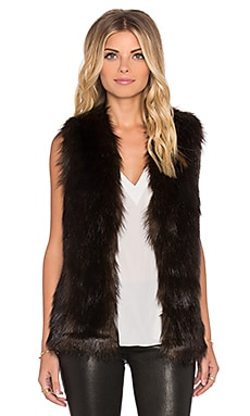 Unreal Fur I'll Take You Faux Fur Vest in Chocolate